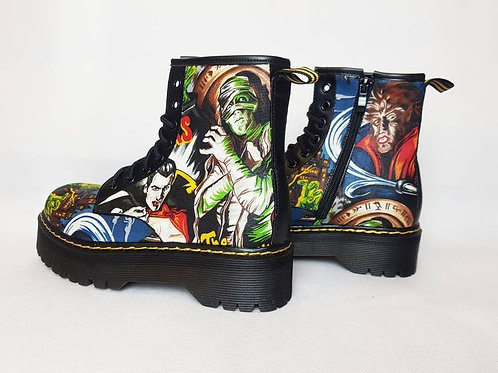 Classic horror chunky ankle boots
