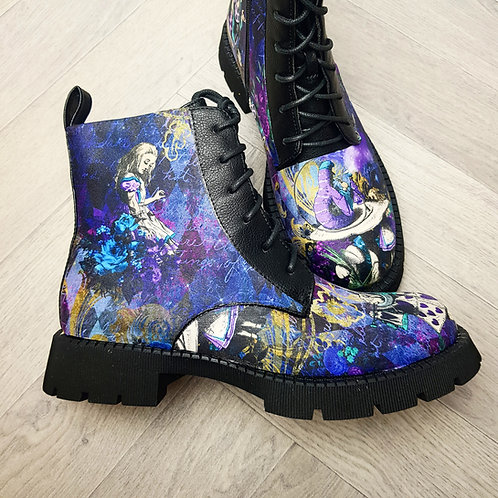 Alice in wonderland ankle boots