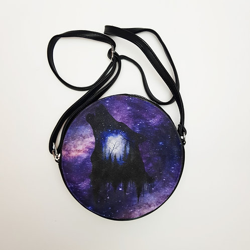 Galaxy wolf shoulder bag