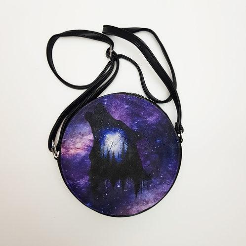Galaxy wolf shoulder bag