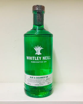 Whitley Neill Aloe & Cucumber70cl - 43%.
