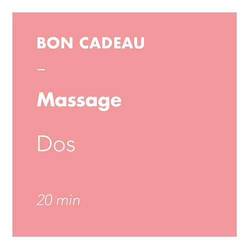 Massage Dos - 20min
