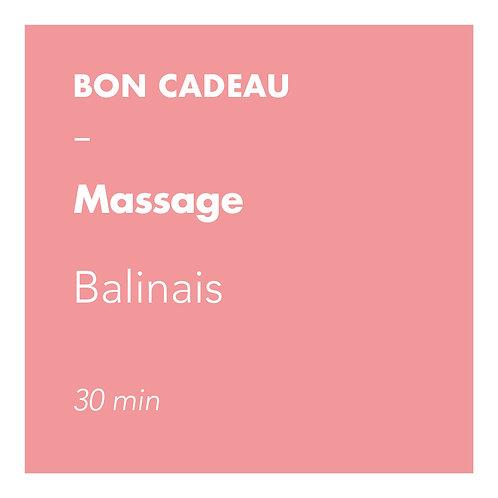 Massage Balinais - 30 min