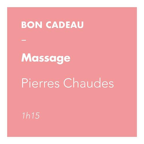 Massage Pierres Chaudes - 1h15