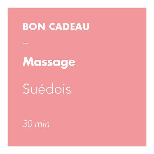 Massage Suédois - 30 min