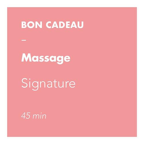Massage Signature - 45 min