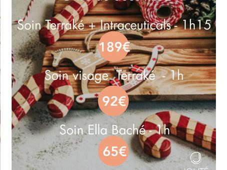 Offre Jolité du mois de Décembre -  Découverte des soins de Noël !