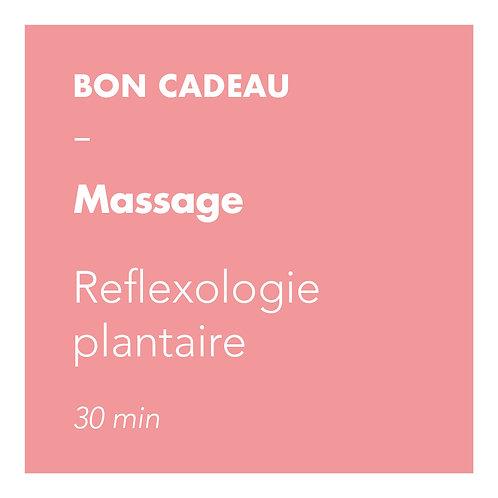 Massage Reflexologie plantaire - 30min