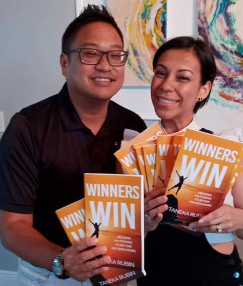 Dr Ish and Beatriz Boloso Revolution Cry_Youth Sponsors of the book Winners Win by Taneka Rubin