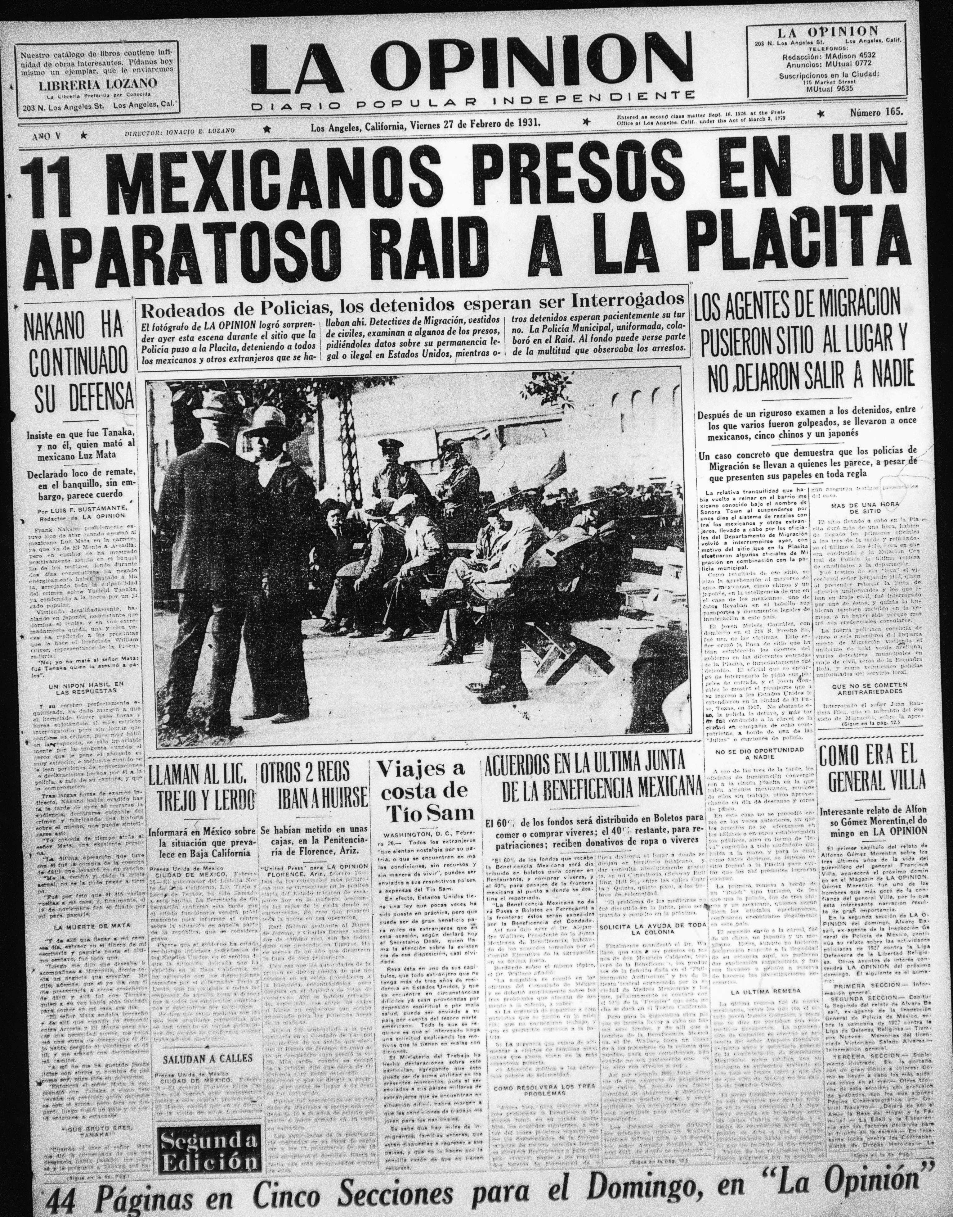 La Opinion Raid on La Placita