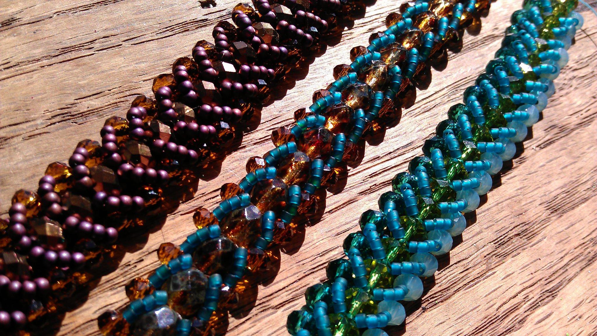 Woven Seed Bead Bracelets