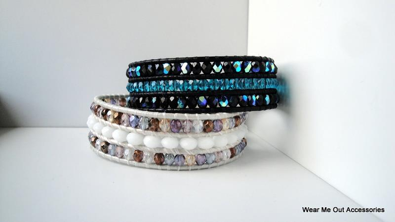 Triple Row Wrap Bracelets