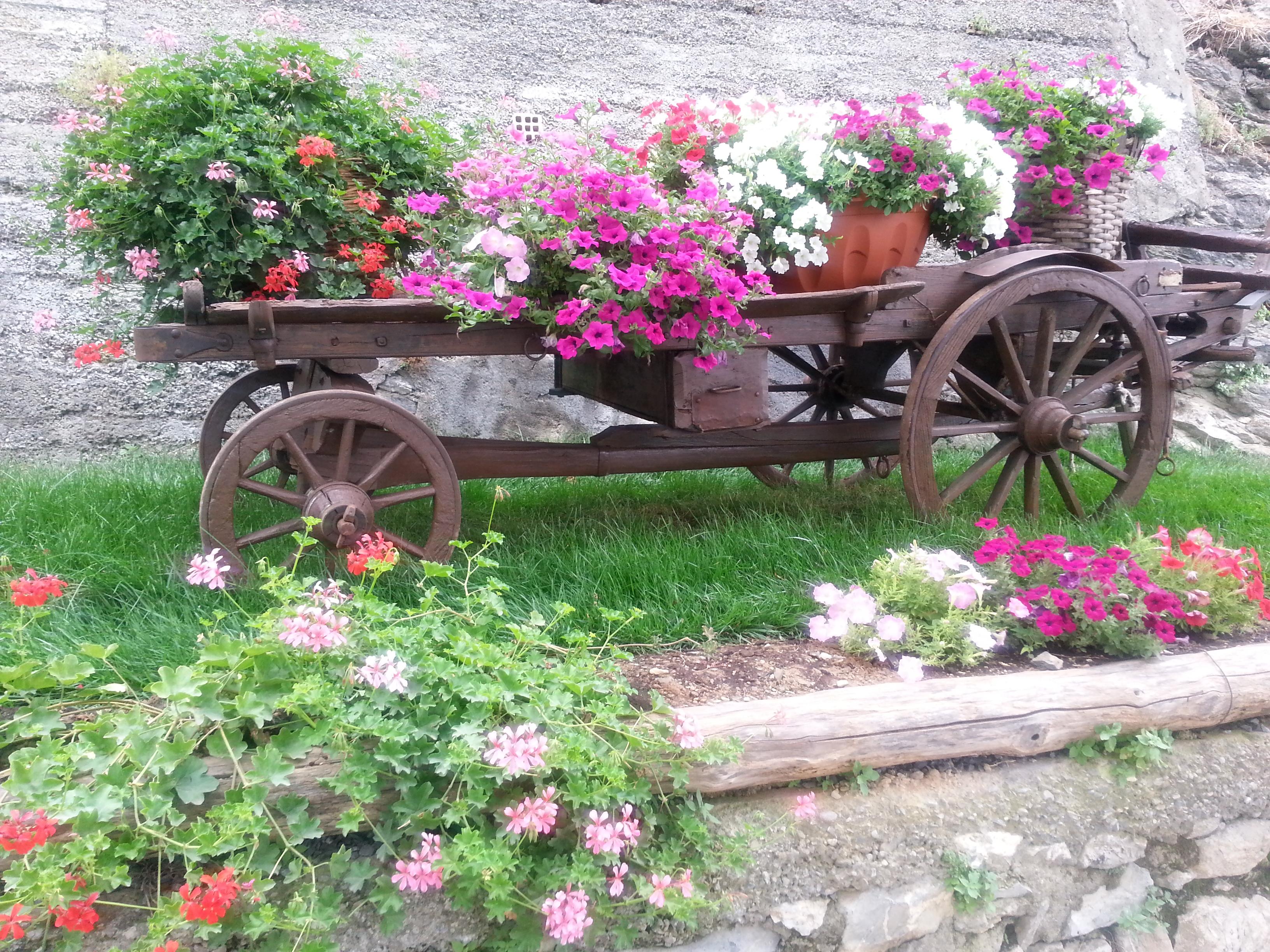 Повозка с цветами.