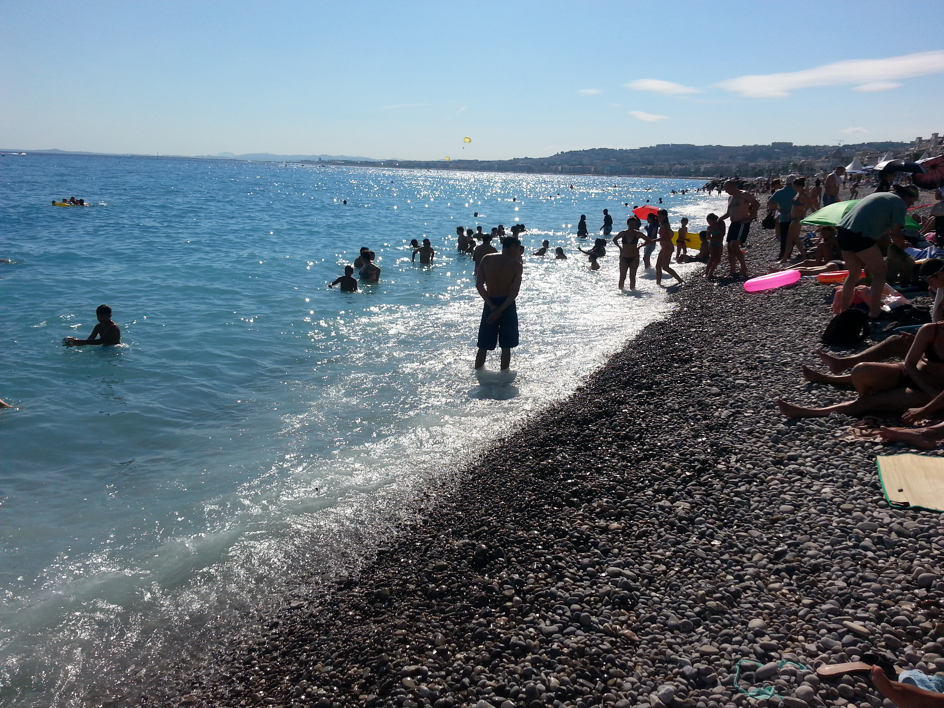 Лазурный пляж Ниццы