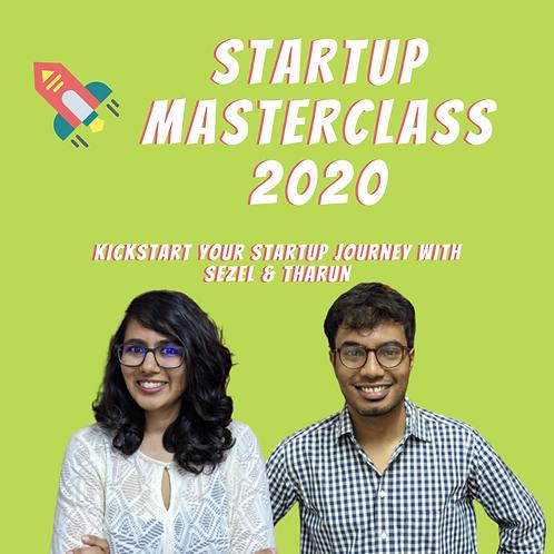 Startup Masterclass 2020