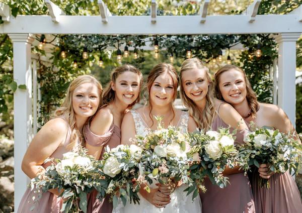 Bridesmaids under the Arbor