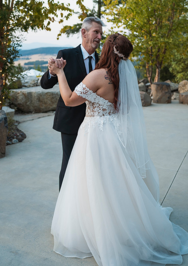 Father-Daughter Dance on Patio
