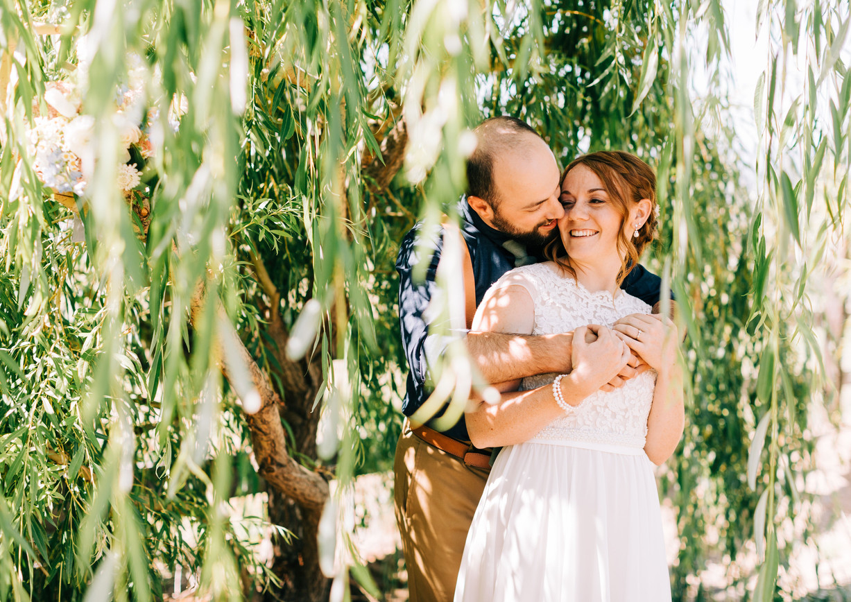 Willow Tree Wedding Photo