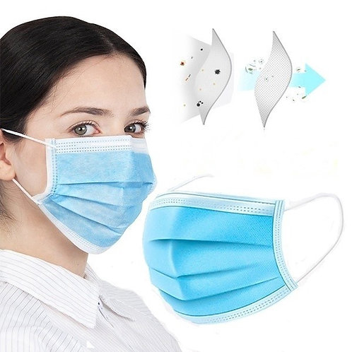 3-Ply Disposable Surgical Masks 50pcs x 3