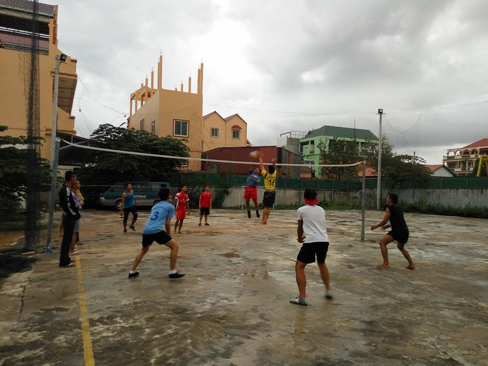 dorm guys volleyball