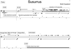 Susurrus for tuba and electronics