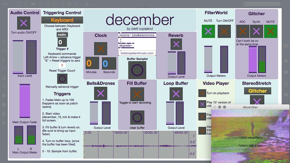 december for solo instrument and electronics