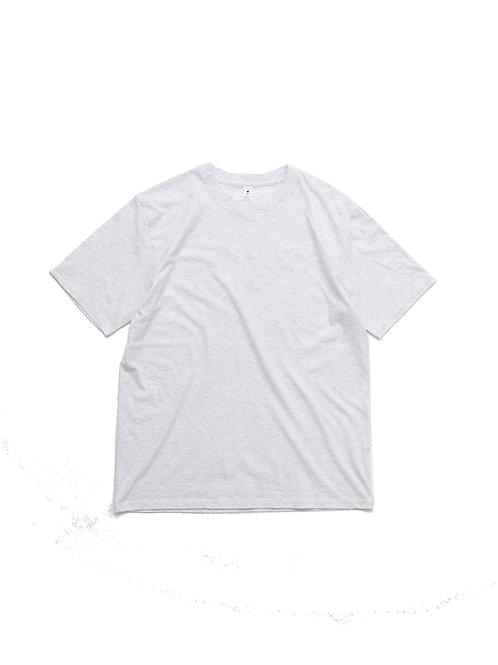 REGULAR FIT SHORT SLEEVE CREW-NECK TEE(ホワイト杢)