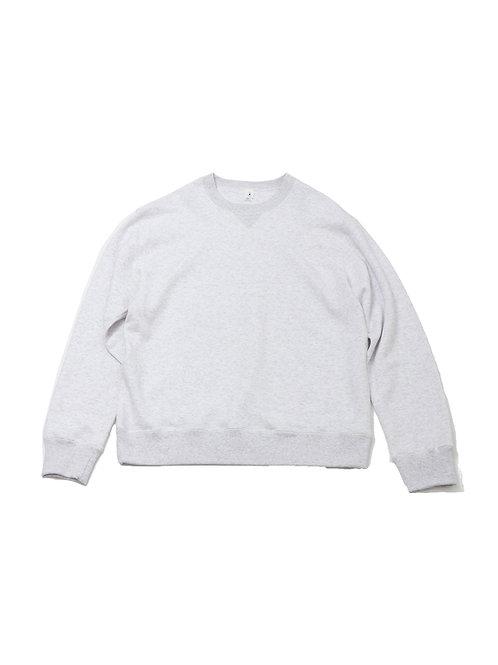 REGULAR FIT LOOPWHEEL CREW-NECK PO(ホワイト杢)