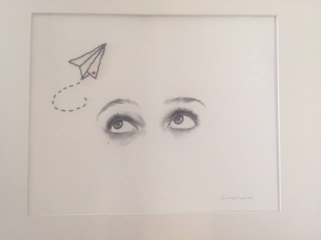 Eyes #3 now added a paper plane