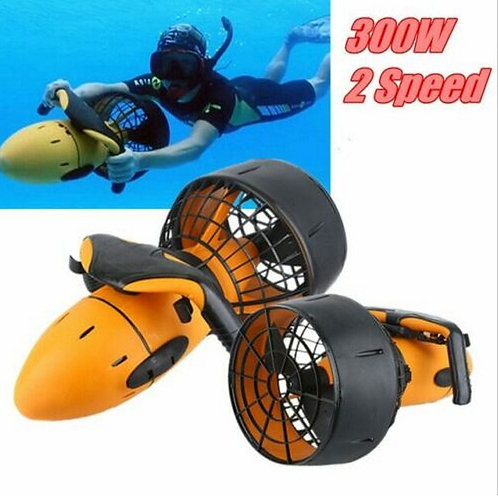 Scuba Diving Underwater Electric Scooter, Dual Speed Propeller, Waterproof 300W