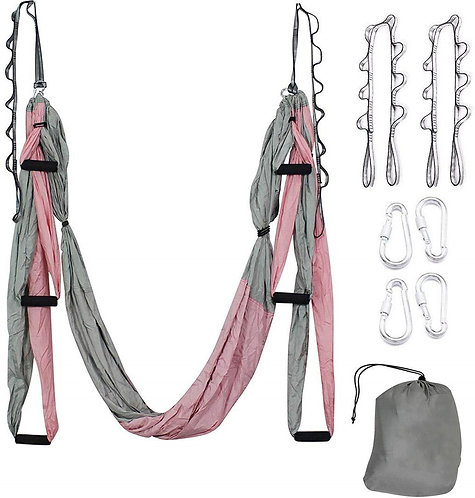 Aerial Yoga Hammock Set - Antigravity Swing for Air Yoga Inversion Exercise