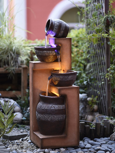 Large Zen Garden Water Fall Fountain, Cascade Water Feature - Indoor Outdoor