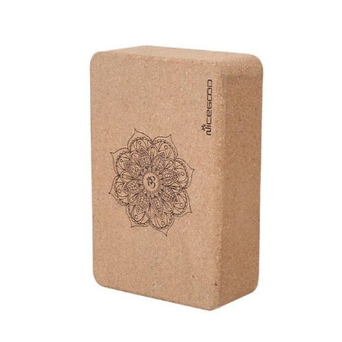 Yoga Exercise Brick made of High Density Natural Cork Non-Slip - Pilates & Dance