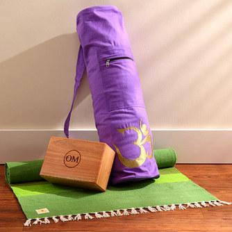 Cotton Yoga Rug with Carrying Sleeve