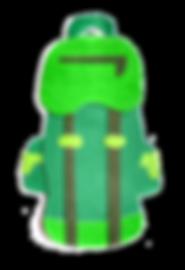 sac randonnée vert