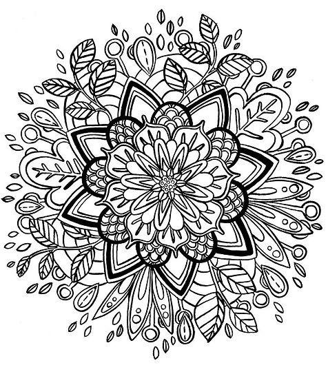 coloriages mandala fleur une fée en voyage