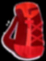 sac randonnée rouge