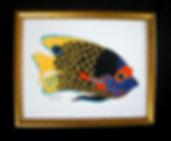poisson tropical papier découpé