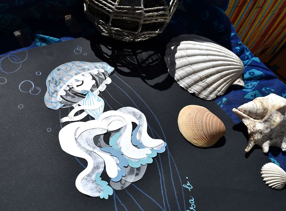 Méduse de la marine en papier découpé Mermaid 2020