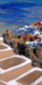 croquis crayon de couleur Terceira