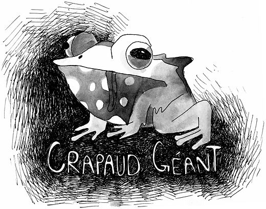 Crapaud géant character design