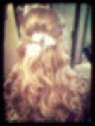 wedding hair, daisies, bride