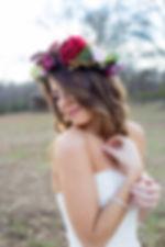 Wedding hairstyle,balayage highlight , Flower crown