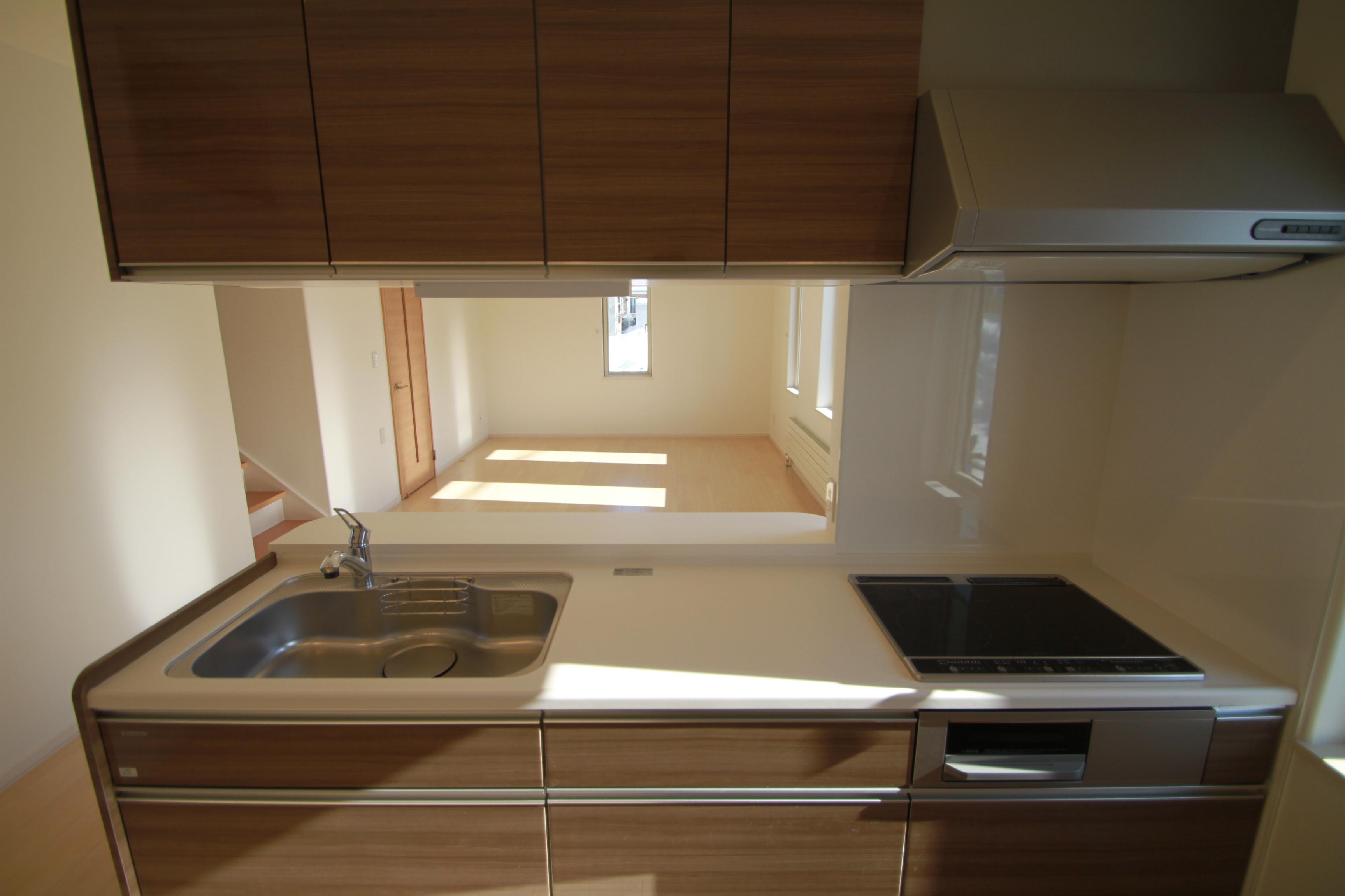 人工大理石天板キッチン 2-0-1