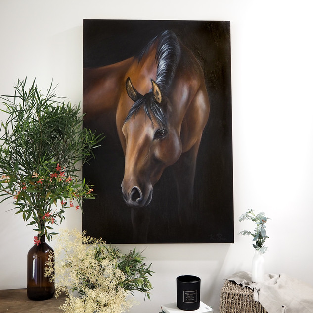 Oil painting, 'Loyal Regard'