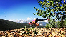 Getting her yoga on in Breckenridge, Colorado