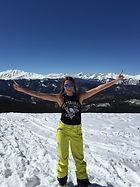 Maximizing the sun no matter what!  Skiing in Colorado