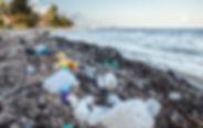 Litter on beautiful beaches