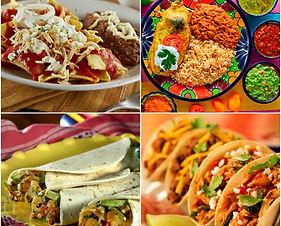 Comida mexicana tacos chilaquiles burritos