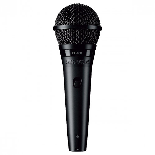 MICROFONE SHURE PROFISSIONAL VOCAL COM FIO PGA58